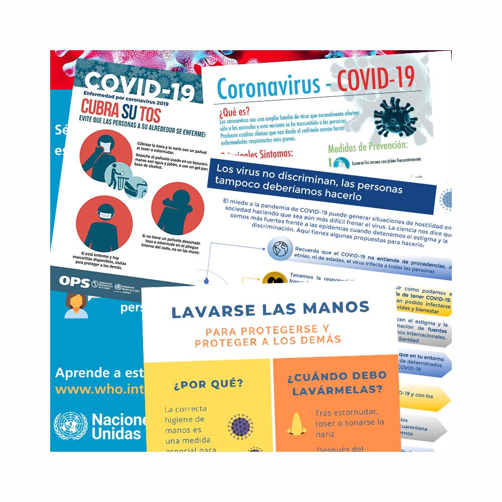 Carteles de información del coronavirus COVID-19